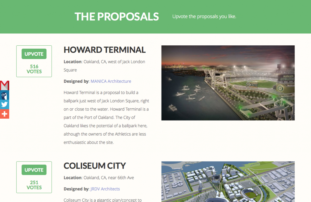 Howard Terminal has proven thus far to be the most popular proposal.